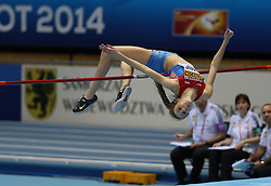 07.03.2014, Ergo Arena, Sopot, POL, IAAF, Leichtathletik Indoor WM, Sopot 2014, Tag 1, im Bild Ana Simic competite during the high jump // Ana Simic competite during the high jump during day one of IAAF World Indoor Championships Sopot 2014 at the Ergo Arena in Sopot, Poland on 2014/03/07. EXPA Pictures © 2014, PhotoCredit: EXPA/ Newspix/ Michal Fludra<br /> <br /> *****ATTENTION - for AUT, SLO, CRO, SRB, BIH, MAZ, TUR, SUI, SWE only*****