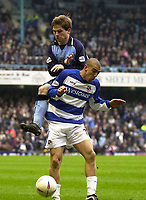 Photo. Glyn Thomas.<br /> Coventry City v Reading. Nationwide Division 1.<br /> Highfield Road, Coventry. 27/03/2004.<br /> Coventry's Gary McSheffrey (L) rises above Andy Hughes.
