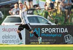 Luka Bobičanec of Mura celebrates after scoring his side third goal during football match between NK Triglav and NS Mura in 5th Round of Prva liga Telekom Slovenije 2019/20, on August 10, 2019 in Sports park, Kranj, Slovenia. Photo by Vid Ponikvar / Sportida