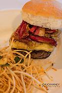 Elk burger at Cafe Kandahar on Big Mountain in Whitefish, Montana, USA