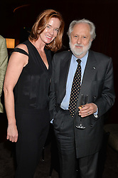 LORD PUTTNAM and DEE STERLING at the Launch Of Alain Ducasse's Rivea Restaurant At The Bulgari Hotel, 171 Knightsbridge, London on 8th May 2014.