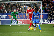 Peterborough Utd midfielder Siriki Dembélé (10) on the edge of the box during the EFL Sky Bet League 1 match between Peterborough United and Scunthorpe United at London Road, Peterborough, England on 1 January 2019.