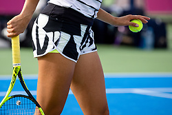PORTOROZ, SLOVENIA - SEPTEMBER 15: Lucia Bronzetti of Italy competes during the 2nd Round of WTA 250 Zavarovalnica Sava Portoroz at SRC Marina, on September 15, 2021 in Portoroz / Portorose, Slovenia. Photo by Matic Klansek Velej / Sportida