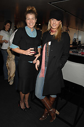 Left to right, AMBER NUTTALL and ALICE BRUDENELL-BRUCE at a lunch to celebrate the launch of the Top Tips for Girls website (toptips.com) founded by Kate Reardon held at Armani, Brompton Road, London on 5th March 2007.<br />