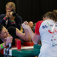 Participants compete in the Judgement Day Arm Wrestling World Cup held at the FitParade mass sports event in Budapest, Hungary on October 17, 2015. ATTILA VOLGYI