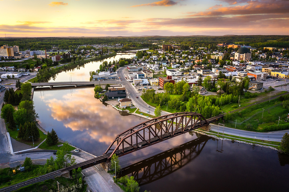 Harricana River at Amos, Quebec