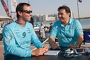 Pedro Campos e Iker Martínez durante la entrevista realizada por Nacho Gómez del diario Marca./ Iker and Pedro Campos during their interview with Nacho Gómez from Marca newspaper.