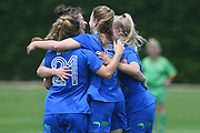 Southern United players celebrate in the National womens league football match, Central Football v Southern United, Massey University, Palmerston North, Sunday, December 02, 2018. Copyright photo: Kerry Marshall / www.photosport.nz