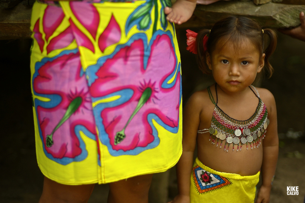 Over the last quarter-century, a few Embera families pushed further North of Darien, settling in the jungles bordering the Ipeti? River -- a scant two-hour journey from cosmopolitan Panama City. Embera communities are scattered in this border wilderness.