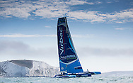 """Image licensed to Lloyd Images <br /> The RORC Cowes - Dinard St Malo Race. Pictures of the """"Concise10"""" MOD70 trimaran<br /> Credit: Lloyd Images"""