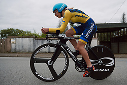 Alla Marushchuk (UKR) at the 2020 UEC Road European Championships - Junior Women ITT, a 25.6 km individual time trial in Plouay, France on August 24, 2020. Photo by Sean Robinson/velofocus.com
