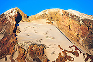Summit of Mt Adams volcano with the White Salmon Glacier on the southwest side in the Mt Adams Wilderness - Gifford Pinchot National Forest,Cascade Mountain Range Washington state, USA