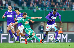 25.10.2015, Ernst Happel Stadion, Wien, AUT, 1. FBL, SK Rapid Wien vs FK Austria Wien, 13. Runde, im Bild Alexander Gorgon (FK Austria Wien), Roi Kehat (FK Austria Wien), Maximilian Hofmann (SK Rapid Wien), Olarenwaju Kayode (FK Austria Wien)// during Austrian Football Bundesliga 13th round match between SK Rapid Vienna and FK Austria Vienna at the Ernst Happel Stadion, Vienna, Austria on 2015/10/25, EXPA Pictures © 2015, PhotoCredit: EXPA/ Sebastian Pucher
