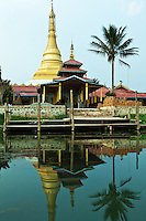 Alodaw Pauk Pagoda, Inle Lake - is one of the oldest shrines on the lake which has various smaller shrines built over the water on stilts.