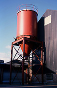 A753M3 Red grain silo at a maltings Mistley Essex England