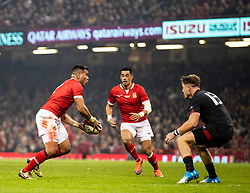 Siale Piutau of Tonga<br /> <br /> Photographer Simon King/Replay Images<br /> <br /> Under Armour Series - Wales v Tonga - Saturday 17th November 2018 - Principality Stadium - Cardiff<br /> <br /> World Copyright © Replay Images . All rights reserved. info@replayimages.co.uk - http://replayimages.co.uk