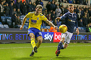 Birmingham City midfielder Gary Gardner (20) on loan from Aston Villa, on the ball during the EFL Sky Bet Championship match between Millwall and Birmingham City at The Den, London, England on 28 November 2018.