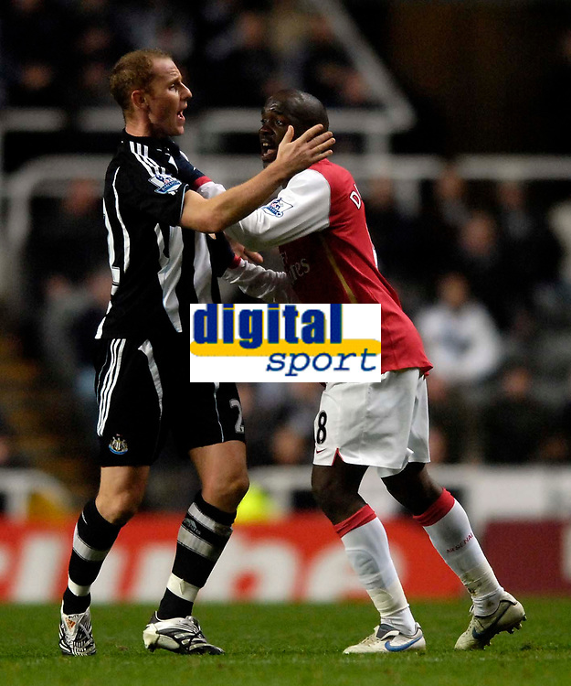 Photo: Jed Wee/Sportsbeat Images.<br /> Newcastle United v Arsenal. The FA Barclays Premiership. 05/12/2007.<br /> <br /> Newcastle's Nicky Butt (L) and Arsenal's Lassana Diarra get in a scrap.