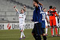 FOOTBALL - UEFA CHAMPIONS LEAGUE 2011/2012 - 1/8 FINAL - 1ST LEG - OLYMPIQUE MARSEILLE v INTER MILAN - 22/02/2012 - PHOTO PHILIPPE LAURENSON / DPPI - MATHIEU VALBUENA (OM)