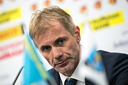 Ivo Jan, head coach of Slovenia at press conference after ice hockey match between Slovenia and Kazakhstan at IIHF World Championship DIV. I Group A Kazakhstan 2019, on April 29, 2019 in Barys Arena, Nur-Sultan, Kazakhstan. Photo by Matic Klansek Velej / Sportida