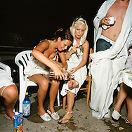 First aid at toga party in Ayia Napa, Cyprus.<br /> Photo by Knut Egil Wang/Moment/INSTITUTE