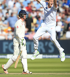 England's Keaton Jennings walks off dejected after losing his wicket during day three of the First Investec Test match at Lord's, London. PRESS ASSOCIATION Photo. Picture date: Saturday July 8, 2017. See PA story CRICKET England. Photo credit should read: Nigel French/PA Wire. RESTRICTIONS: Editorial use only. No commercial use without prior written consent of the ECB. Still image use only. No moving images to emulate broadcast. No removing or obscuring of sponsor logos.