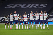 Tottenham Hotspur line up for pemalties during the EFL Cup Fourth Round match between Tottenham Hotspur and Chelsea at Tottenham Hotspur Stadium, London, United Kingdom on 29 September 2020.