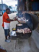 Outdoor fish restaurant at Caye Caulker, Belize