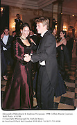 Alexandra Pakenham & Andrew Ferguson. 1998 Crillon Haute Couture Ball. Paris. 6/12/98<br />© Copyright Photograph by Dafydd Jones<br />66 Stockwell Park Rd. London SW9 0DA<br />Tel 0171 733 0108