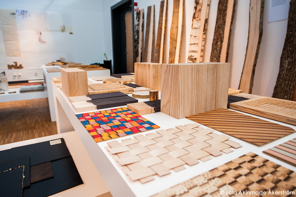 Designs which are part of a teacher-curated exhibition focusing on surface materials.
