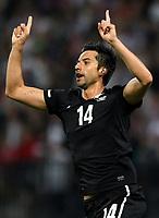 Fotball<br /> New Zealand v Slovenia<br /> Marburg Slovenia<br /> 04.06.2010<br /> Foto: Gepa/Digitalsport<br /> NORWAY ONLY<br /> <br /> FIFA Weltmeisterschaft 2010 in Suedafrika, Vorberichte, Vorbereitung, Vorbereitungsspiel, Freundschaftsspiel, Laenderspiel, Slowenien vs Neuseeland. <br /> <br /> Bild zeigt den Jubel von Rory Fallon (NZL).