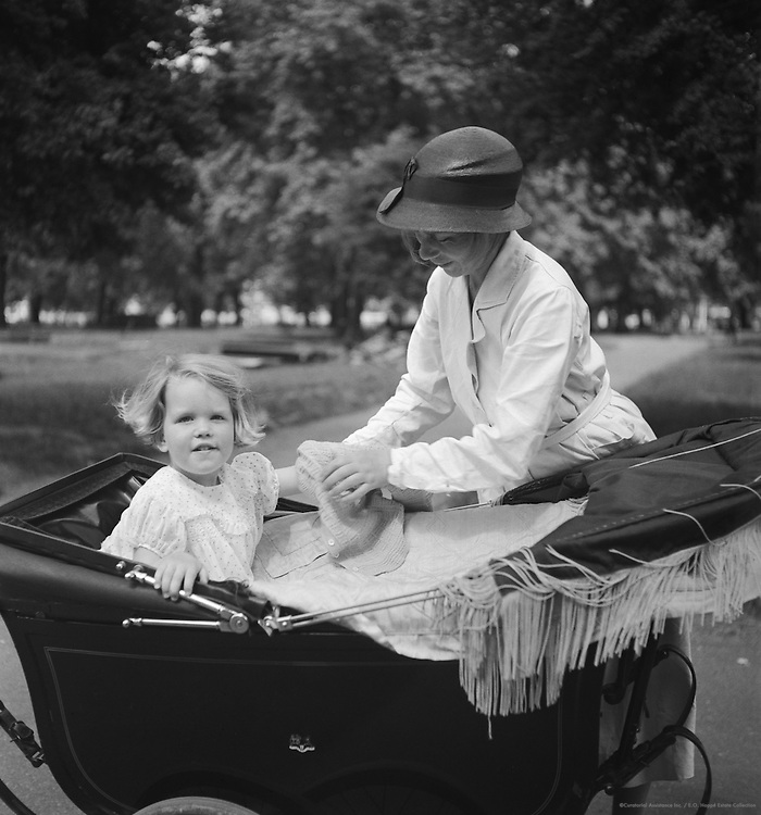 Child with Her Nurse in Hyde Park, London, 1937