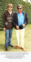 Left to right, ANTON RUPERT and his father MR JOHANN RUPERT Chief Executive of Richemont, at a lunch in West Sussex on 27th June 2004.PWM 32