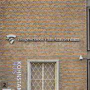 NLD/Amsterdam//20190209-logo van de Hogeschool van Amsterdam