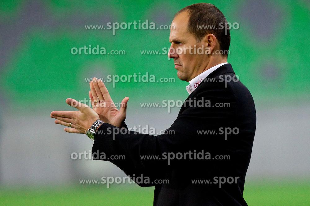 Ante Simundza, head coach of Mura during football match between NK Olimpija Ljubljana and Mura 05 in 17th Round of PrvaLiga 2011/2012, on November 6, 2011, in SRC Stozice, Ljubljana, Slovenia.  (Photo by Vid Ponikvar / Sportida)