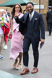 © Licensed to London News Pictures. 08/07/2016. FRANCES AATERNIR and CHIWETEL EJIOFOR arrive for the twelfth day of the WIMBLEDON Lawn Tennis Championships. London, UK. Photo credit: Ray Tang/LNP