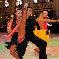 Kazu Komiya and Eri Hiraiwa from Japan perform their dance during the Professional Rising Stars Latin-american competition of the Blacpool Danca Festival in Blackpool, United Kingdom on May 27, 2011. ATTILA VOLGYI
