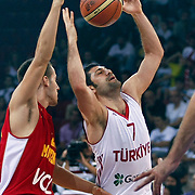 Turkey's Omer ONAN (R) during their Istanbul CUP 2011match played Montenegro between Turkey at Abdi Ipekci Arena in Istanbul, Turkey on 25 August 2011. Photo by TURKPIX