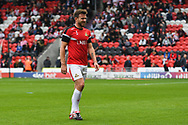 Andrew Butler of Doncaster Rovers (6) warming up during the EFL Sky Bet League 1 match between Doncaster Rovers and Gillingham at the Keepmoat Stadium, Doncaster, England on 20 October 2018.