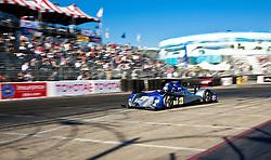 LONG BEACH, CA - APR 15: American Le Mans Driver Gunnar Jeannette/Ricardo Gonzalez of the CORE Autosport Team drive during practice run. Photo by Eduardo E. Silva
