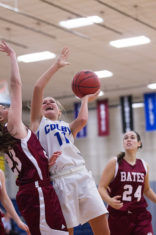 Desi Smith, of Colby College, during an NCAA Division III college basketball game against Bates College at The Whitmore-Mitchell at Wadsworth Gymnasium, Wednesday Dec. 4, 2013 in Waterville, ME.  (Dustin Satloff/Colby College Athletics)
