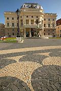 Europe, Slovakia, capitol city - Bratislava, Slovak National Theater on the main square, Hviezdoslavovo Namastie