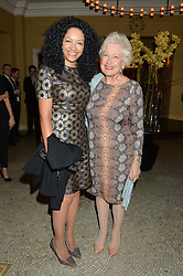 Left to right, KANYA KING and CAROLINE NEVILLE at a reception to celebrate the Debrett's 500 2015 - a recognition of Britain's 500 most influential people, held at The Club at The Cafe Royal, 68 Regent Street, London on 26th January 2015.