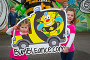 NO FEE PICTURES<br /> 26/3/16 Children nationwide will soon have the opportunity to meet their favourite Irish authors in a new and unique setting. Announced today, the partnership between children's publisher Little Island Books and BUMBLEance, The Children's National Ambulance Service will see children's authors visiting schools, festivals and libraries on board BUMBLEance to read from their work and to meet with children across primary and secondary schools nationwide. <br /> Kate Halon aged 4 and Zara Hanlon age 2 sisters from Artane Dublin 5<br />   Pictures: Arthur Carron