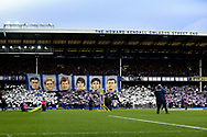 Legends banner at the Gwladys  Street end  during the Premier League match between Everton and Chelsea at Goodison Park, Liverpool, England on 17 March 2019.
