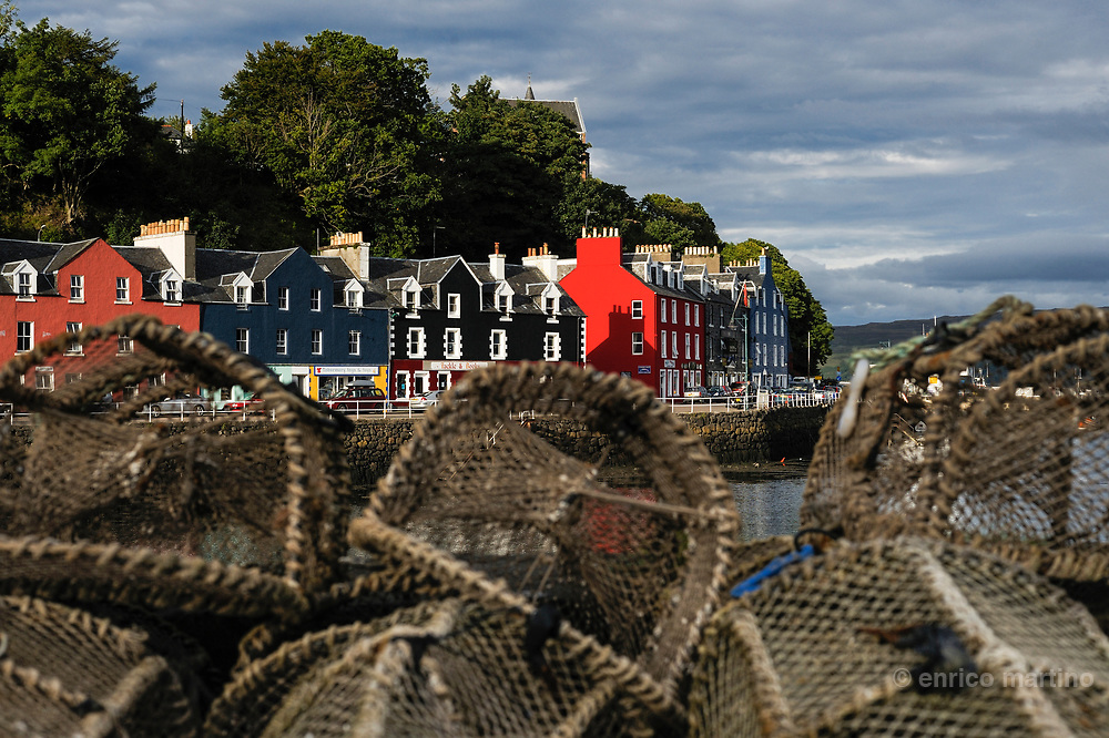 Mull island, Tobermory is the main town of the island.