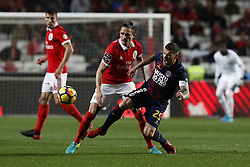 January 20, 2018 - Lisbon, Portugal - Benfica's midfielder Ljubomir Fejsa (L) vies for the ball with Chaves's forward Pedro Tiba (R)  during Primeira Liga 2017/18 match between SL Benfica vs GD Chaves, in Lisbon, on January 20, 2018. (Credit Image: © Carlos Palma/NurPhoto via ZUMA Press)