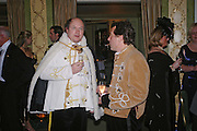 Maurizio Sala and Count Bertrane Andrea di Recanati. War and Peace charity Ball, Dorchester Hotel. Park Lane. London. 17 February 2005. ONE TIME USE ONLY - DO NOT ARCHIVE  © Copyright Photograph by Dafydd Jones 66 Stockwell Park Rd. London SW9 0DA Tel 020 7733 0108 www.dafjones.com