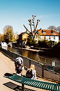 Maidenhead, Berkshire, United Kingdom, Saturday, 17/04/2021, General View,  Boulters Lock, Ray Mill Island,  River Thames, Thames Valley, [Mandatory Credit; Pete Spurrier],