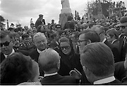 Funeral of Eamon DeValera.   (J72)..1975..02.09.1975..09.02.1975..2nd September 1975..Today saw the funeral of Eamon DeValera. He was laid to rest beside his wife Sinead in Glasnevin Cemetery,Dublin. Dignitries from all around the world attended at the funeral...Lord Kilannin and Princess Grace of Monaco (who cut short her trip to America to attend) are pictured among the attendance at the funeral.